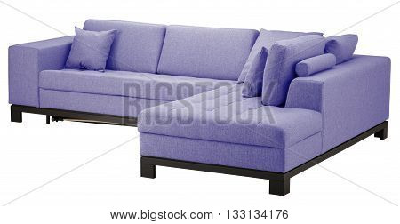 Corner Sofa Isolated