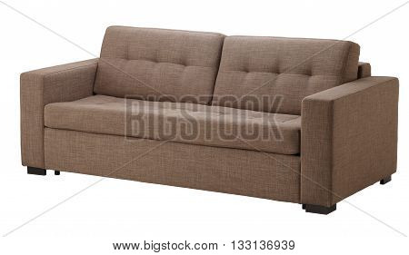 Brown Sofa Isolated On White
