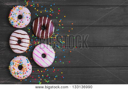Multi-colored Assortment Of Donuts
