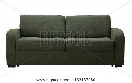 Green Sofa  Isolated On White