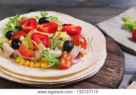 Homemade Tortillas Food Photo