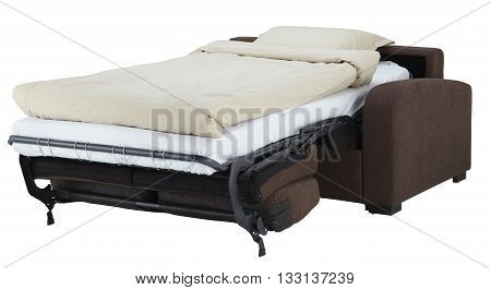 Brown Corner Couch Bed