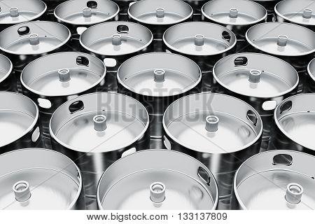 Beer Kegs.