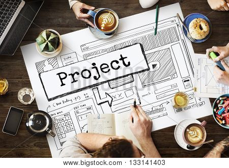 Project Idea Website Scheme Plan Concept