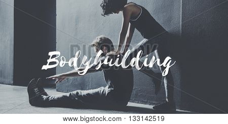 Body Building Active Lifestyle Athletic Concept