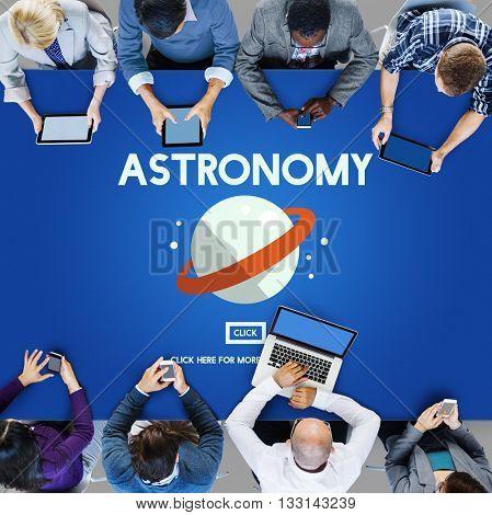 Astronomy Big Bang Planet Spaceship Concept