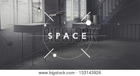 Space Design Decorate Modern Office Private Concept