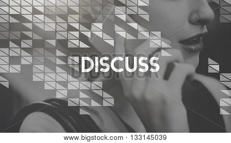 Discuss Arguing Communication Negotiate Talking Concept