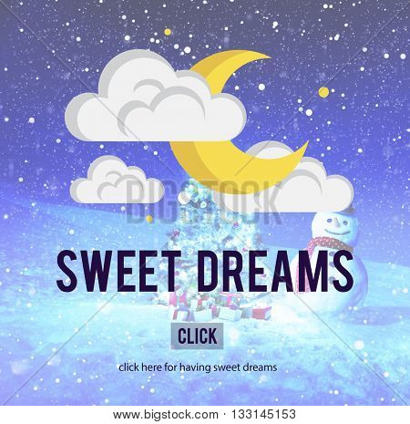 Sweet Dreams Relaxation Happy Positive Concept