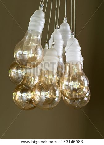 Beautiful retro luxury interior  lamp decor in the condo