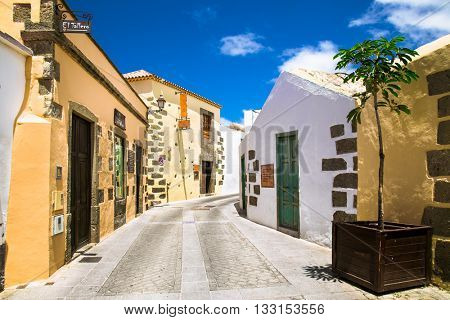 AGUIMES, GRAN CANARIA, SPAIN-MAY 18, 2016: Aguimes city streets on May 18, 2106. in Gran Canaria island,  Spain.