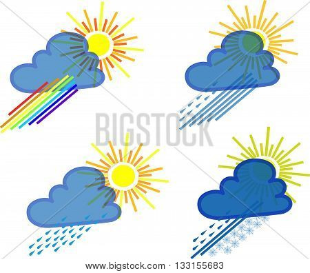 Weather vector illustration, Weather icon art, Weather icon, Sun icon object