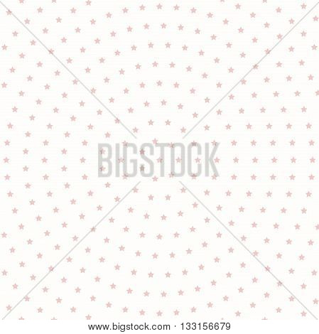 Geometric modern vector pattern. Fine ornament with pink stars