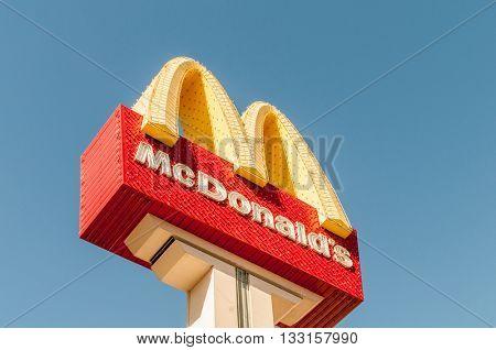 Las Vegas - SEPTEMBER 10, 2010: McDonald Logo on September 10 in