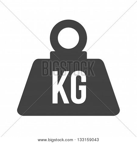 Weight, load, kilogram icon vector image. Can also be used for logistics. Suitable for mobile apps, web apps and print media.
