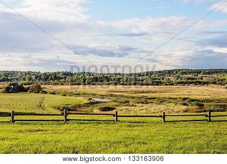 Valley of Soroti river near the village Mikhailovskoye Pushkinskiye Gory Reserve Russia