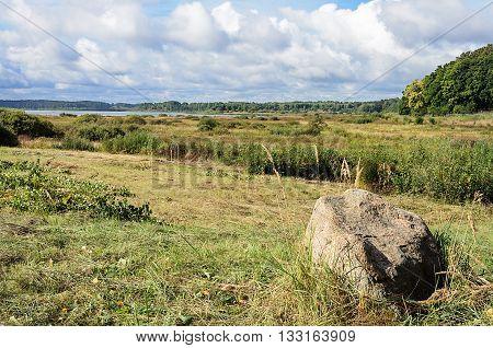 View of lake Petrovskoye (Kuchane) near the village Petrovskoye Pushkinskiye Gory Reserve Russia