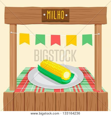 Corn Cob Tent - Festa Junina, brazilian june fest