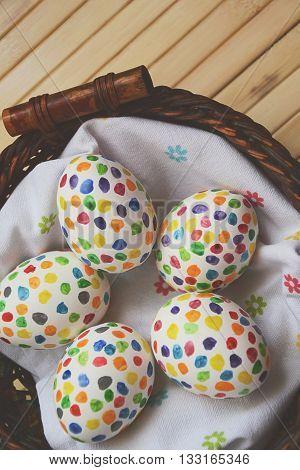 Easter Eggs Matte Sunny Blur Colorful Dots 1