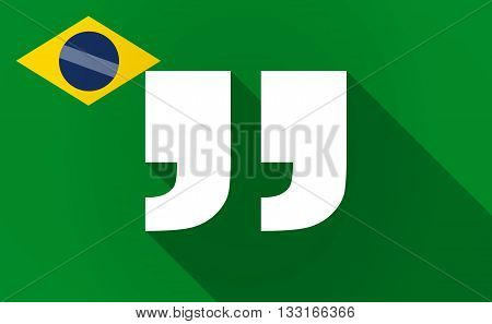 Long Shadow Brazil Flag With  Quotes