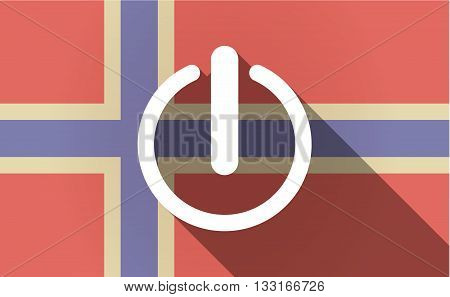 Long Shadow Norway Flag With An Off Button