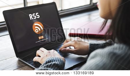 RSS Digital Announcement Network Technology Concept