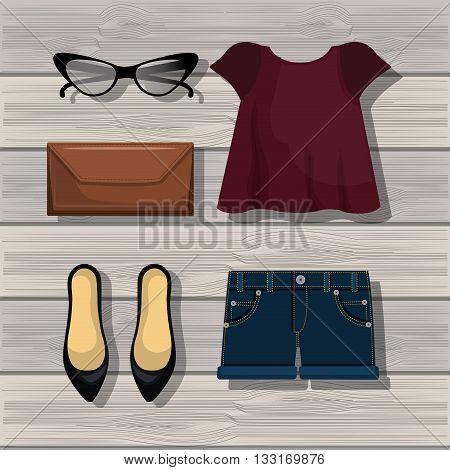 accessory womenswear design, vector illustration eps10 graphic