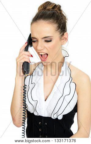 Girl Screams On Phone
