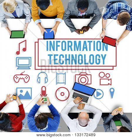 Information Technology Electronics Gadget Digital Concept
