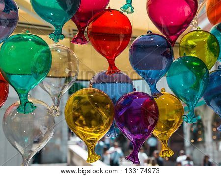 Multicolored Glass Balloons