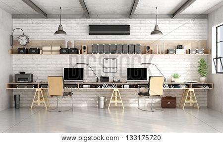 Architecture Or Engineering Office In Industrial Style