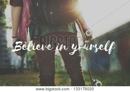 Apply Act Now Believe Yourself Concept