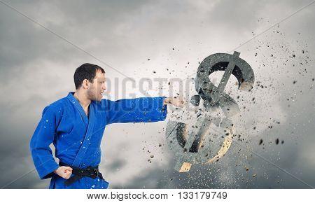 Karate man attack dollar