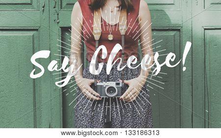Say Cheese Fun Happy Smile Graphic Concept