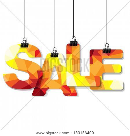 Colorful Sale Text, Vector Illustration