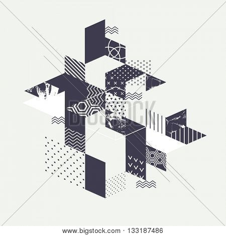 Abstract art geometric background