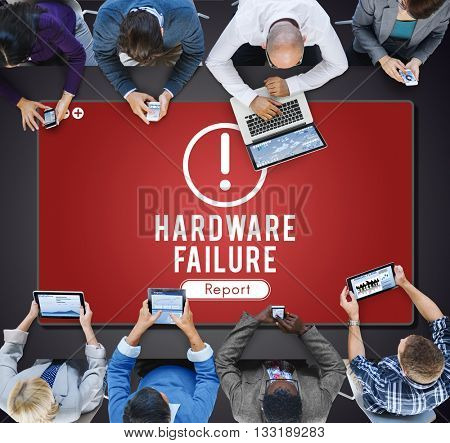 Hardware Failure Network Problem Technology Software Concept