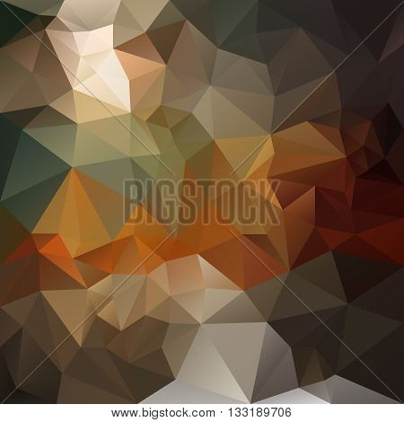 vector abstract irregular polygon background with a triangular pattern in natural dark opal brown orange and gray colors