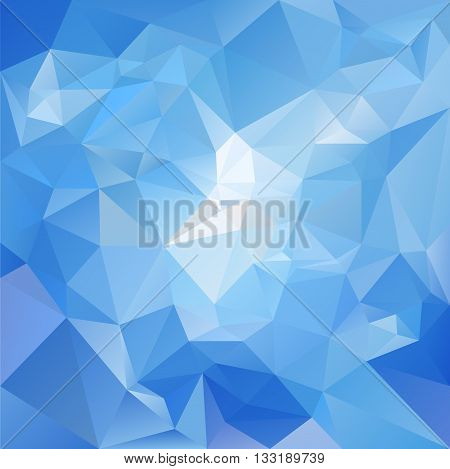 vector abstract irregular polygon background with a triangular pattern in sky blue colors