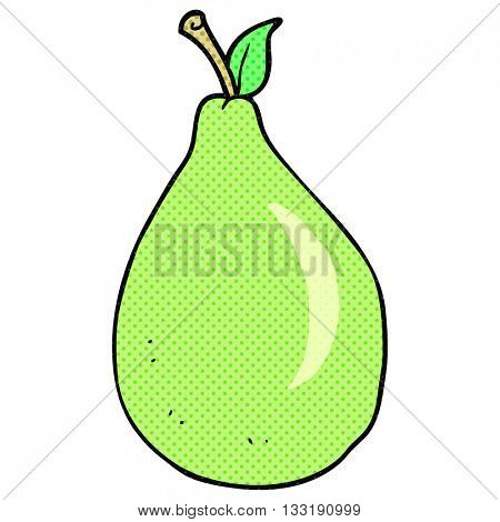 freehand drawn cartoon pear