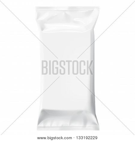 White Blank Template Packaging Foil For Wet Wipes.