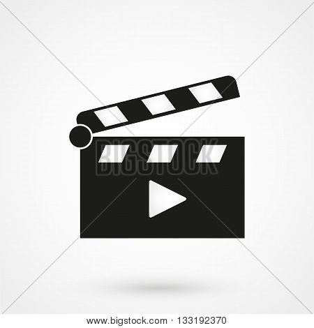 Clapper Board Icon In A Simple Styl