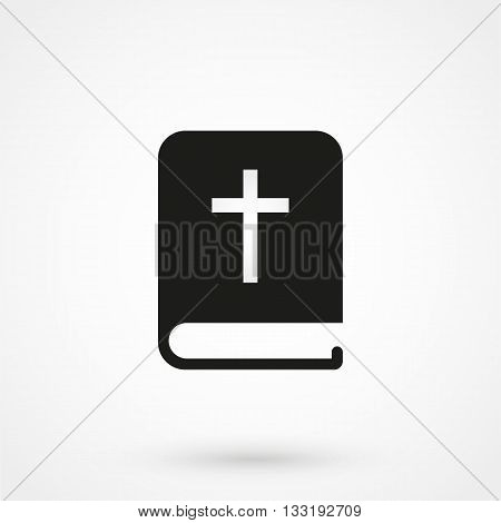 Bible Icon In A Simple Style