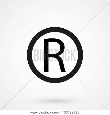 Registered Trademark Symbol In A Simple Style
