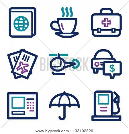 Vacation icon, transport vector web sign.  Trip icon flat. Design mobile icon, vector pictogram. Tour infographics symbols.