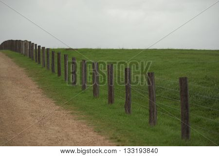 Fence on a paddock during the day