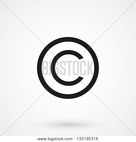 Copyright Symbol Icon In A Simple Style
