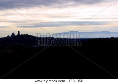 San Gimignano - Tuscany Italy - Sunset