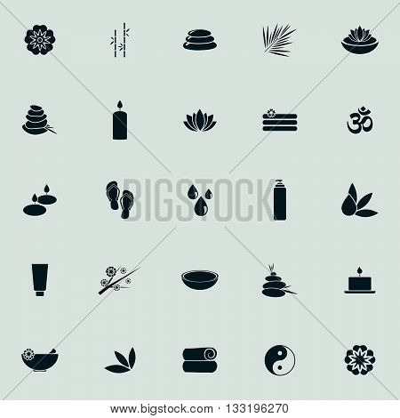 abstract silhoutte spa objects on a white background