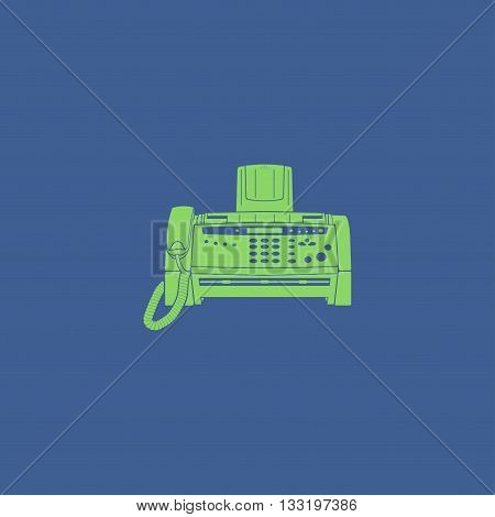 Fax machine icon vector eps 10 illustration